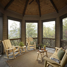 Rustic Porch by Johnson Architecture