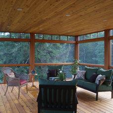 Contemporary Porch by David Matero Architecture