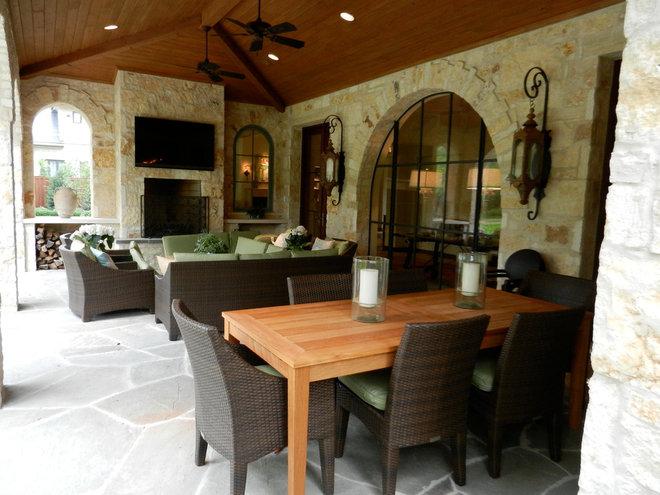 Mediterranean Porch by The Ed Jarrett Company
