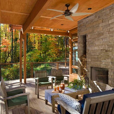 Rustic Porch by Studio One Architecture, Inc.