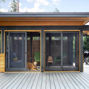 Project 3419-1 Outdoor Living Space Screen Porch Deck Porch Bar Minneapolis