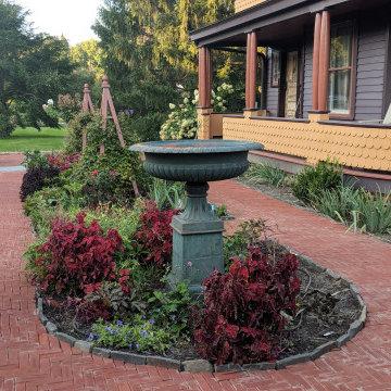 Queen Anne Victorian garden