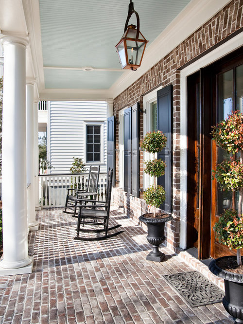 Front Porch On Brick House Ideas & Photos | Houzz
