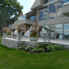 Traditional Porch by Great Lakes Landscape Design