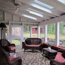 Eclectic Porch by Randall Design