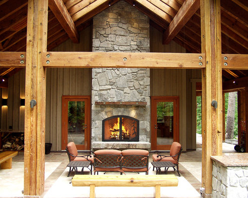 inside outside fireplace houzz
