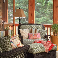 eclectic porch by Michelle Fries, BeDe Design, LLC