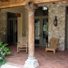 Mediterranean Porch by Rick O'Donnell Architect