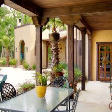 Mediterranean Porch by Gritton & Associates Architects