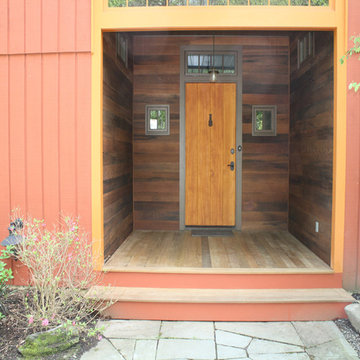 Reclaimed Redwood Porch Paneling