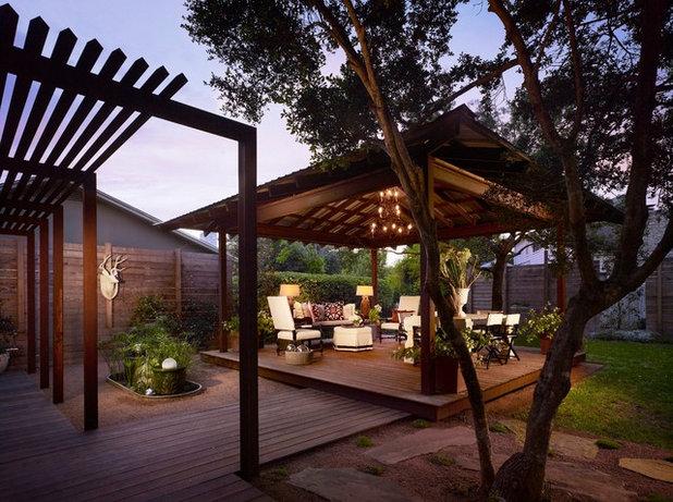 Contemporary Porch by Laird Jackson Design House, LLC.