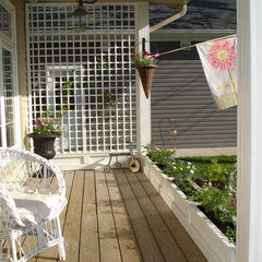 eclectic porch by Restyled Home