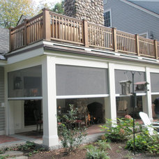 traditional porch by Phantom Screens