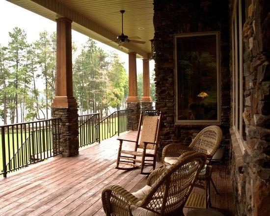 porch columns | houzz - Patio Columns Design