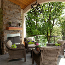Contemporary Porch by Jenni Leasia Design