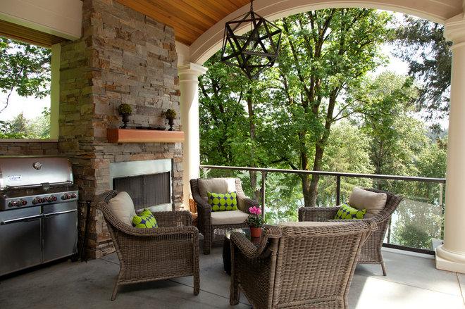 Contemporary Porch by Jenni Leasia Design