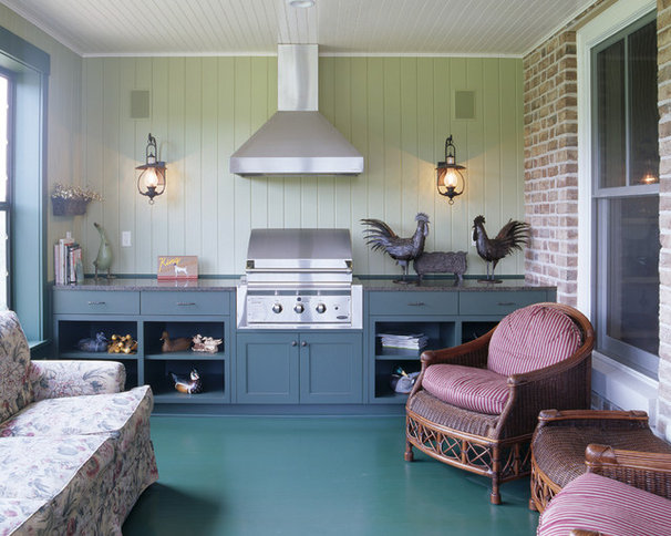 Traditional Porch by Vujovich Design Build, Inc.