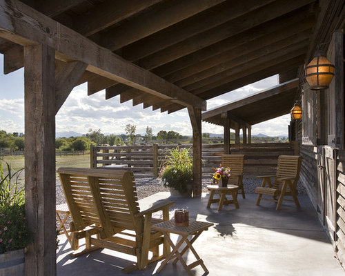 Rustic Porch Houzz