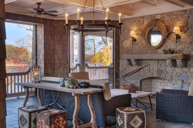 Rustic Porch by Gabriel Builders Inc.