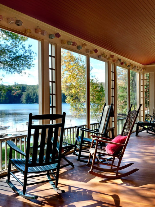 Houzz | Lake House Porch Ideas Design Ideas & Remodel Pictures