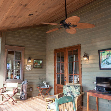 Rustic Rocky Springs Back Porch