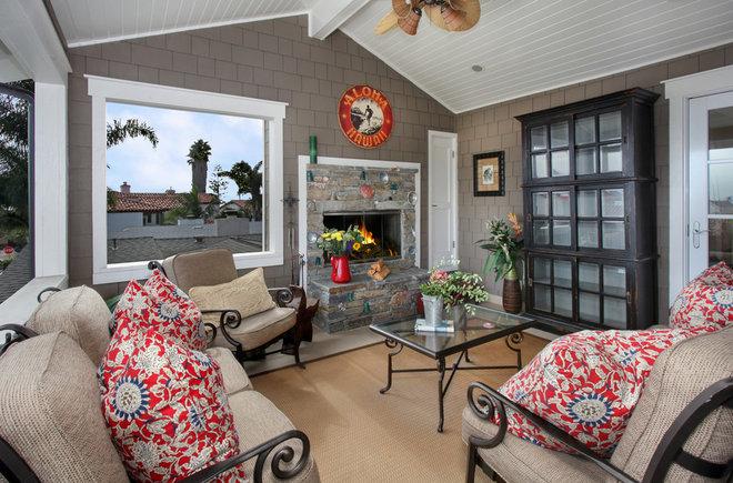 Beach Style Porch by Darci Goodman Design