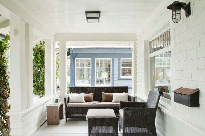 craftsman porch by Evens Architects