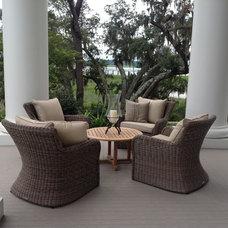 Traditional Porch by Coastline Design Works