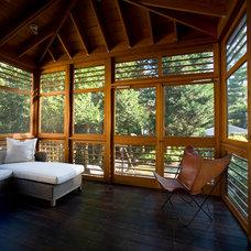 Modern Porch by Fowlkes Studio