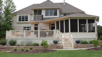 Screen porch and deck addition