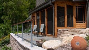 Screen porch. Blue mounds WI