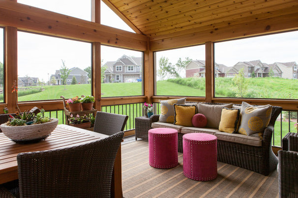 Contemporary Porch by Fiddlehead Design Group, LLC