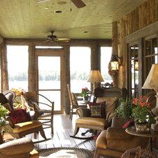 Rustic Porch by Gabberts Design Studio