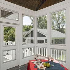 Craftsman Porch by Great Rooms Designers & Builders