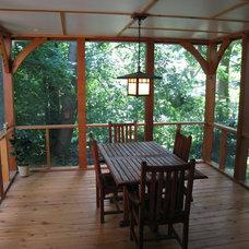 Asian Porch by Rochman Design-Build Inc.