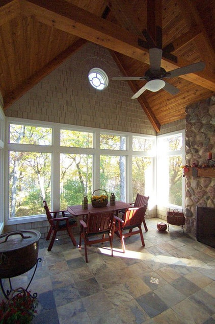 Traditional Porch by Maddock Construction Company