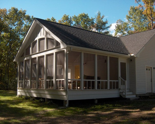 Open gable houzz for Gable screened porch