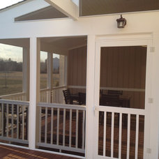 Traditional Porch by Miles Deck Construction