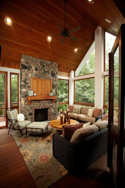 traditional porch by Stonewood, LLC