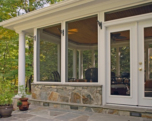 Screen Porch Knee Walls Ideas, Pictures, Remodel And Decor
