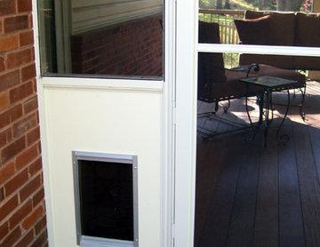 Screen Room Dog door