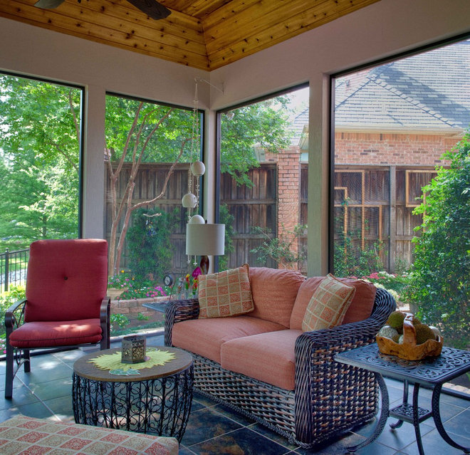 Traditional Porch by DFW Improved