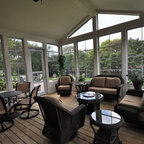 Timber Framed Screened Porch