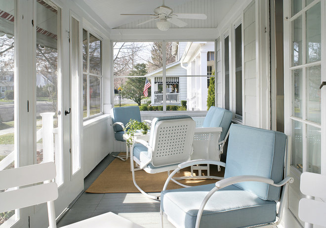 Beach Style Porch by Sheila Rich Interiors, LLC