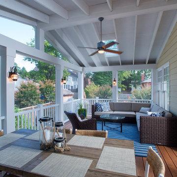 Screened Porch & Danver Outdoor Kitchen in Bethesda
