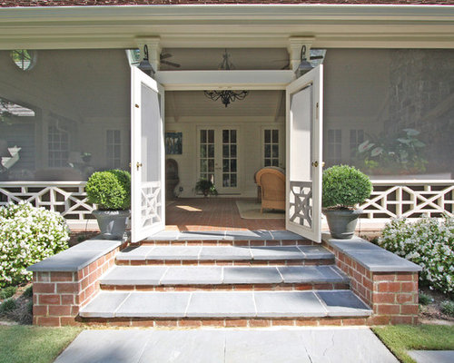 French door screen porch houzz for French doors back porch
