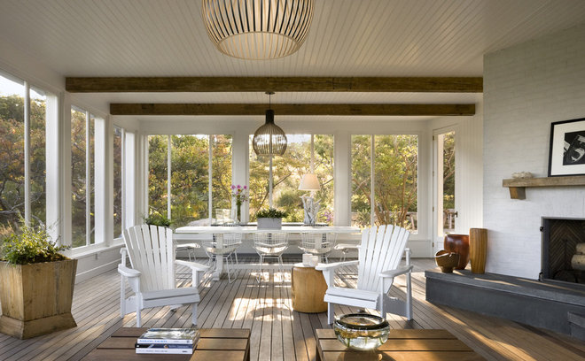 Beach Style Porch by Ike Kligerman Barkley