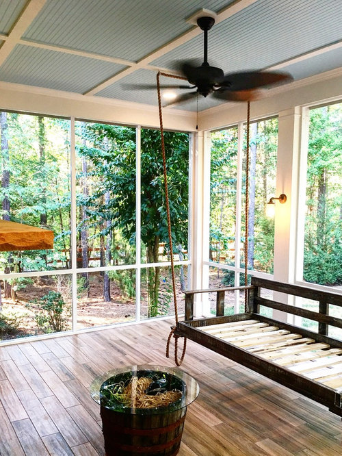 Best Shabby-Chic Style Charlotte Porch Design Ideas & Remodel Pictures | Houzz