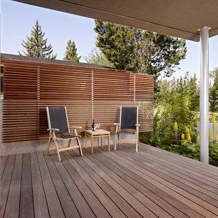 Ispirazione per un portico minimalista dietro casa