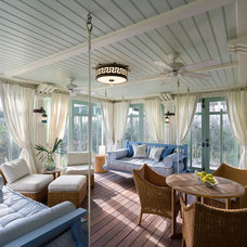 Beach Style Porch by Gary Brewer Robert A.M. Stern Architects